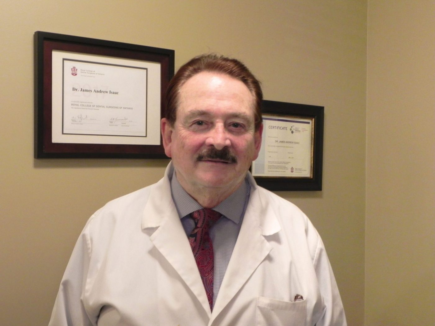 Dr. James Isaac at Milton Central Family Dentistry Dental office in Milton
