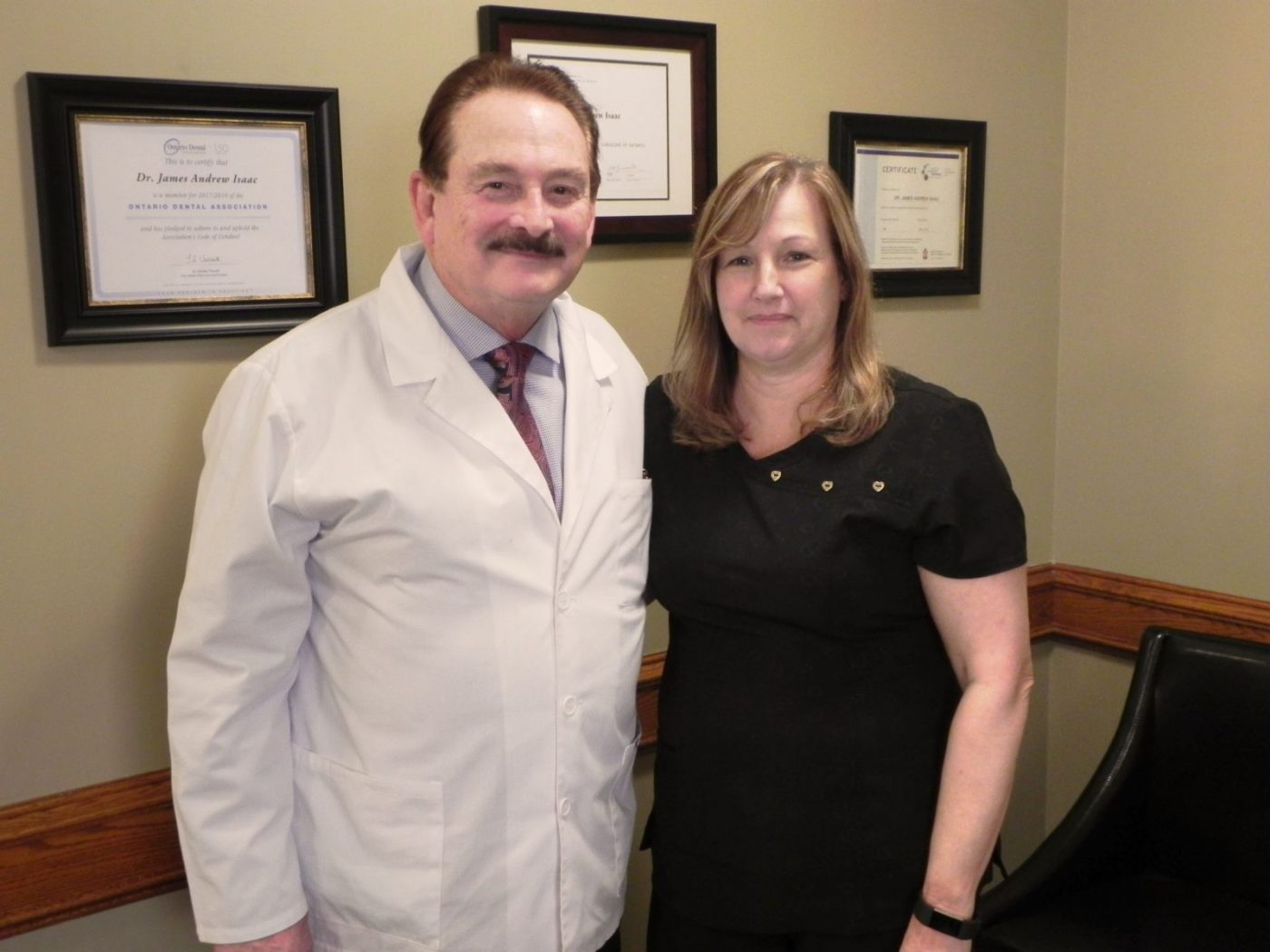 Dr. Isaac At our dental office in Milton